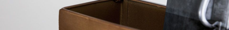 Descriptivo Materiales  Espejo de pared y perchero Mimizan