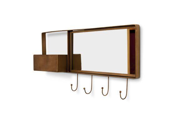 Espejo de pared y perchero Mimizan Clipped