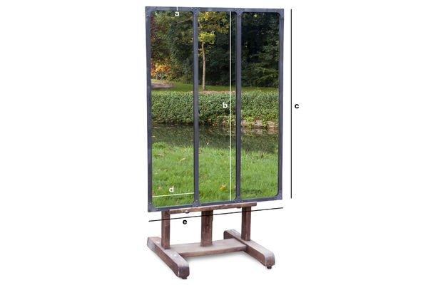 Dimensiones del producto Espejo de taller con marco metálico
