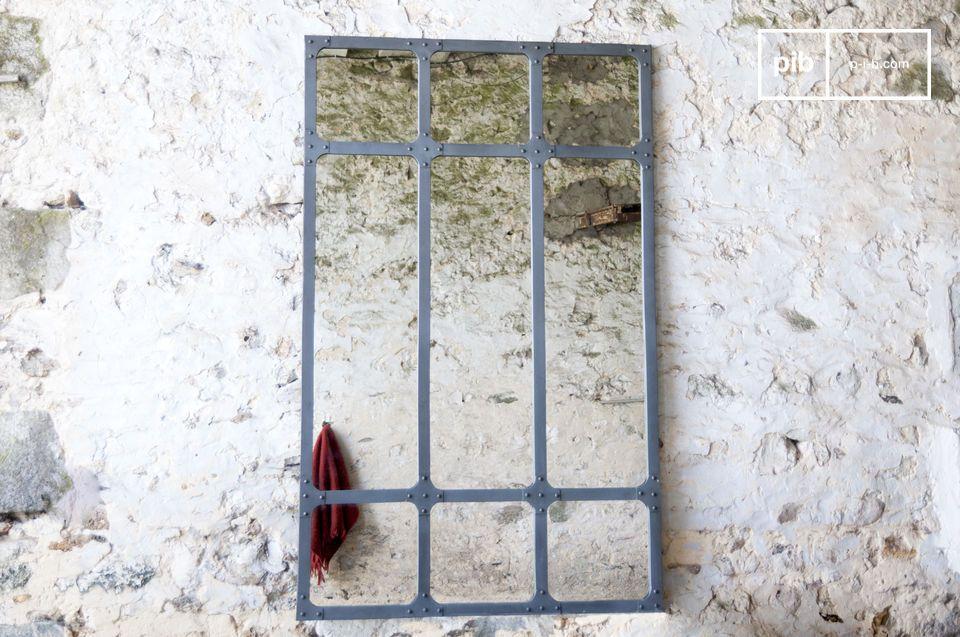 Espejo de taller XXL con estructura de metal