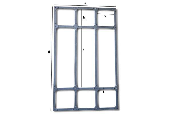 Dimensiones del producto Espejo de taller XXL con estructura de metal