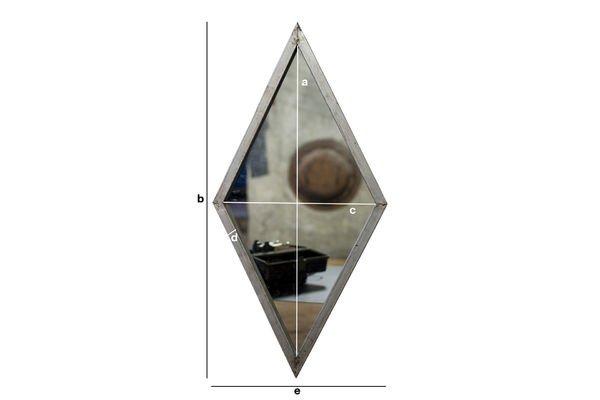 Dimensiones del producto Espejo Diagone
