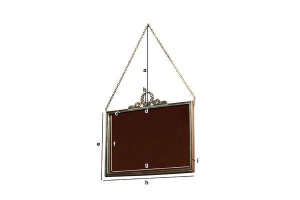 Dimensiones del producto Espejo Flèche de Bronze