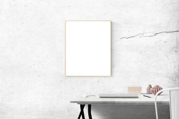 espejo en fondo blanco