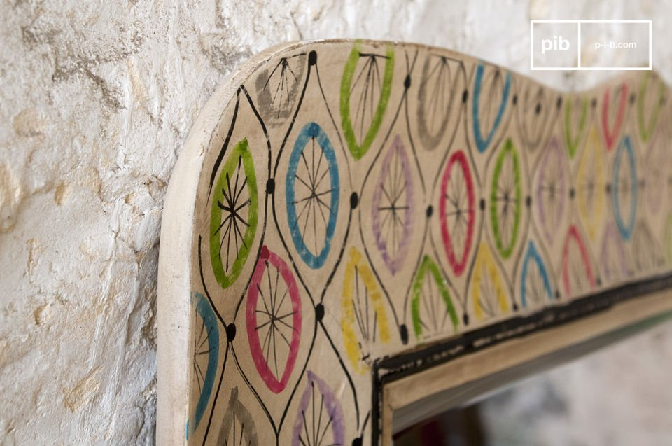 Un artículo colorido que encajará  con una decoración bohemia