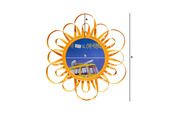 Dimensiones del producto Espejo Naranja Aurinko