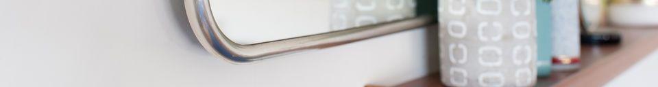 Descriptivo Materiales  Espejo retro con marco de plata Sonia