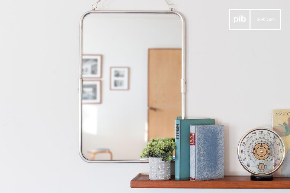 Espejo retro con marco de plata Sonia