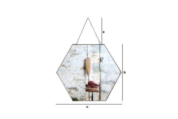 Dimensiones del producto Espejo Solliès-Pont Octo