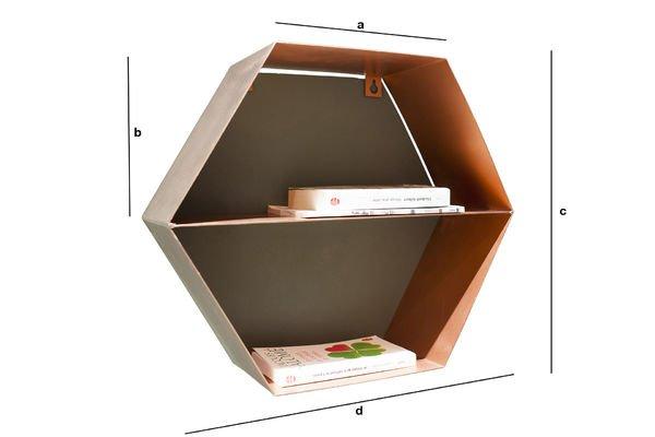 Dimensiones del producto Estante de  pared Ozo