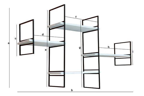 Dimensiones del producto Estante modular de mármol Bridget
