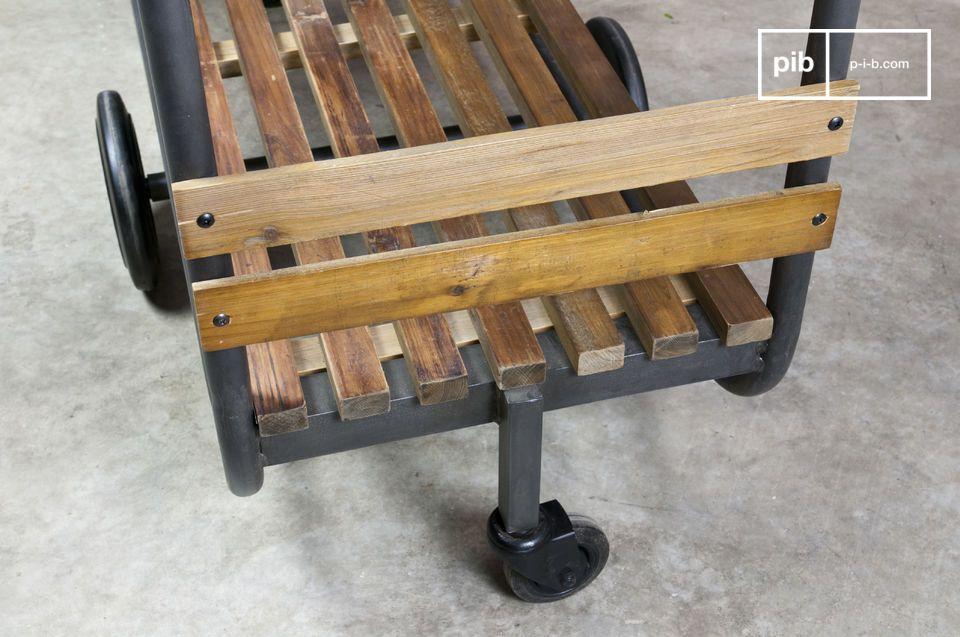 Un practico mueble de almacenamiento, 100% vintage e industrial