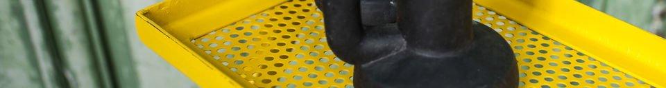 Descriptivo Materiales  Estantería de metal Leffie