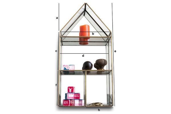 Dimensiones del producto Estantería de pared Collectionneur