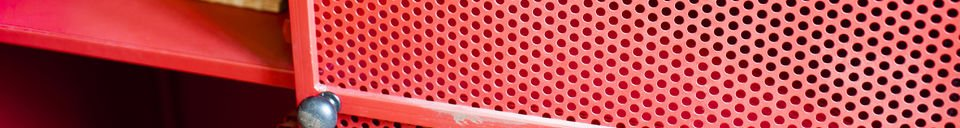 Descriptivo Materiales  Gabinete rojo Minoterie
