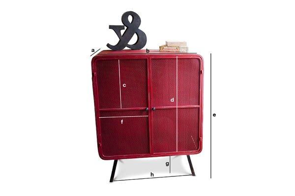 Dimensiones del producto Gabinete rojo Minoterie