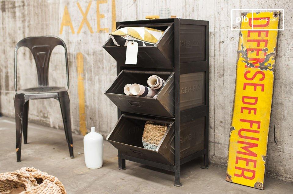 gabinete warhos 3 pr cticos cajones pib On gabinete de metal de estilo industrial