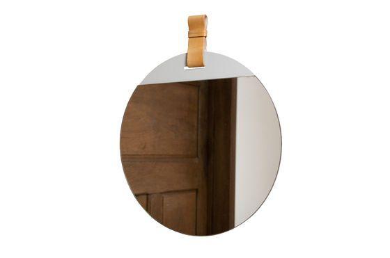 Gran espejo de entrada con correa Clipped