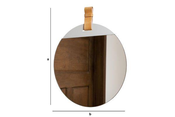Dimensiones del producto Gran espejo de entrada con correa