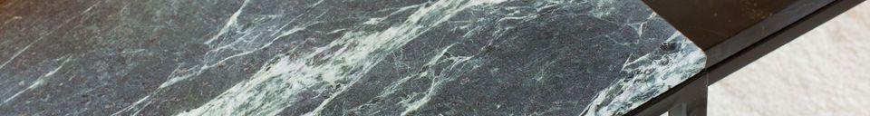 Descriptivo Materiales  Gran mesita de mármol verde Avedore
