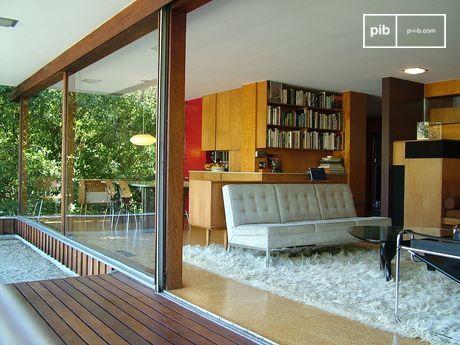Interior de la casa Edward J. Flavin - Richard Neutra Architect 1957