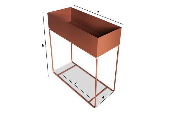 Dimensiones del producto Jardinera en metálico de pie ocre