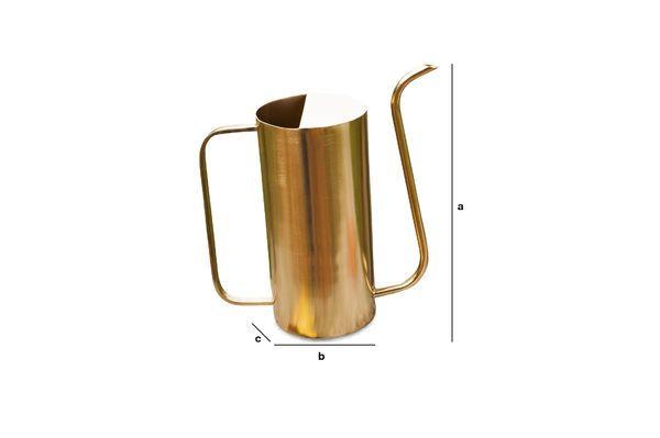Dimensiones del producto Jarra de latón Sterling