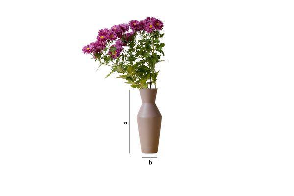 Dimensiones del producto Jarrón Corpiño de cerámica Color mocha mate