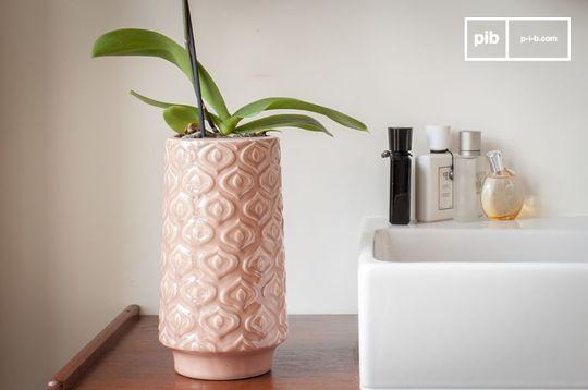 Jarrón de cerámica rosa Aurora