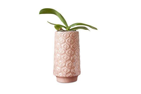 Jarrón de cerámica rosa Aurora Clipped