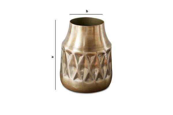 Dimensiones del producto Jarrón de latón Layti