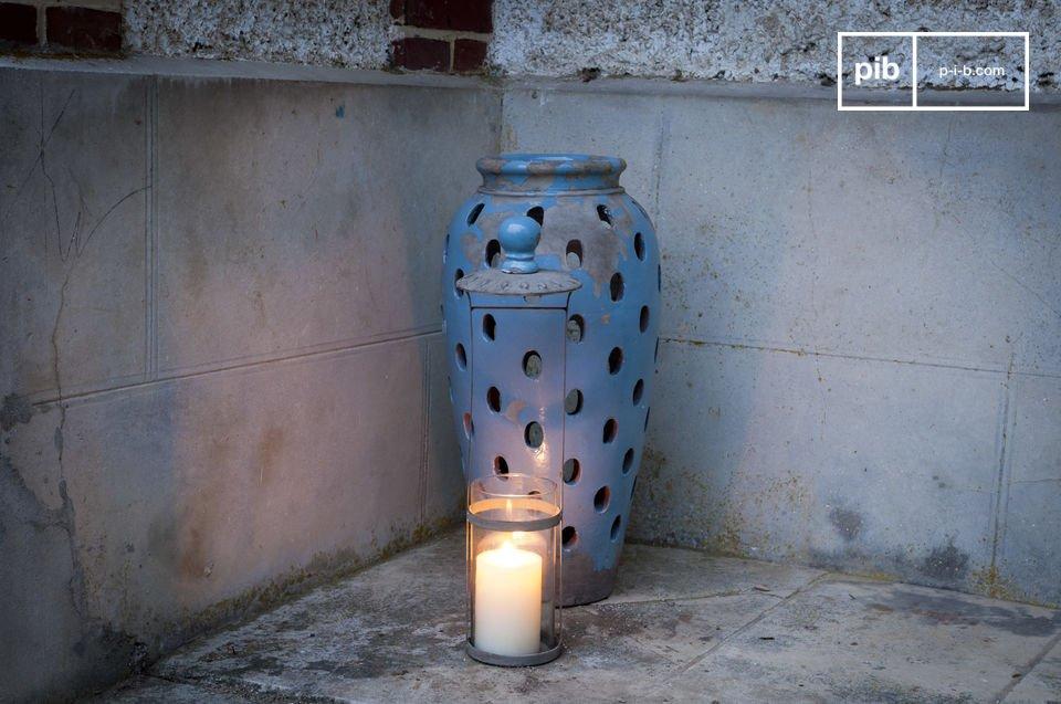 El jarrón farol terracota Ilbarritz