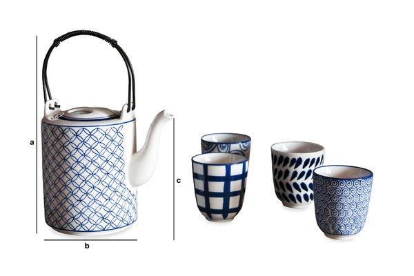 Dimensiones del producto Juego de té Hivana
