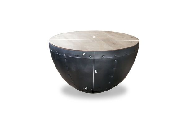 Dimensiones del producto La mesa de centro Lewis