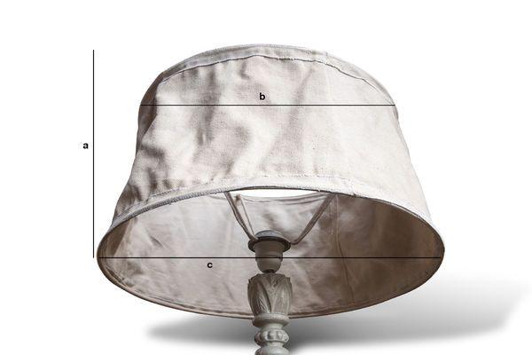 Dimensiones del producto Lámpara Beige Victoria