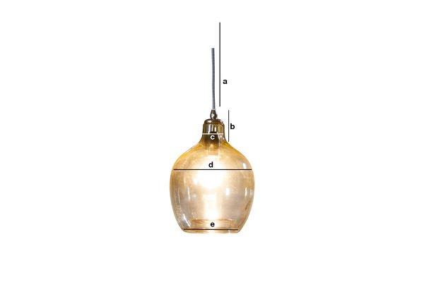 Dimensiones del producto Lámpara colgante Belvedere