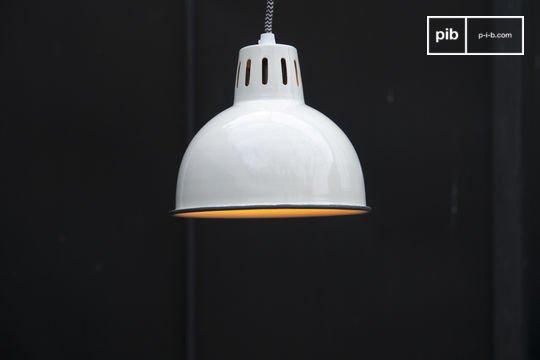 Lámpara colgante blanca Snöl