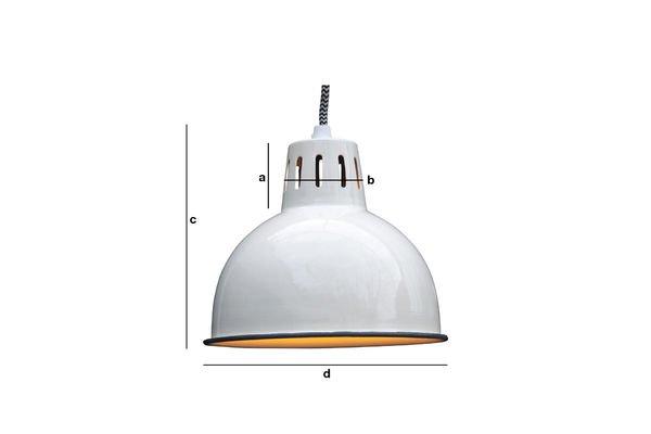 Dimensiones del producto Lámpara colgante blanca Snöl