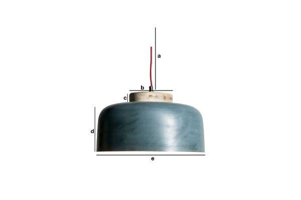 Dimensiones del producto Lámpara colgante Blue Mary