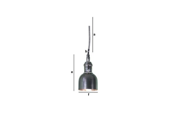 Dimensiones del producto Lámpara colgante campana