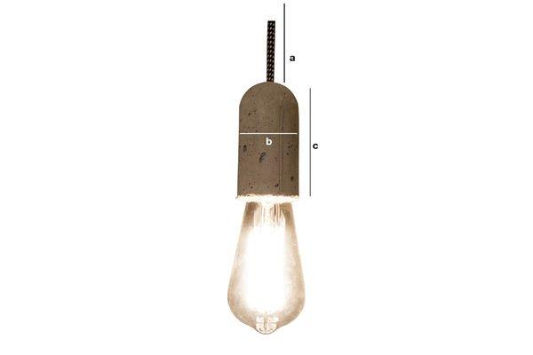 Dimensiones del producto Lámpara colgante de cemento NUD