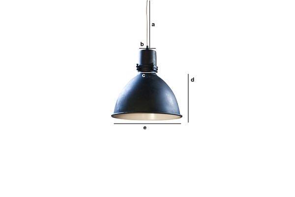 Dimensiones del producto Lámpara colgante de fábrica edición negra