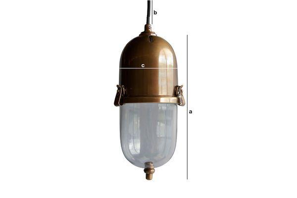 Dimensiones del producto Lámpara colgante de latón Kapsula