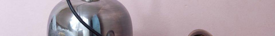 Descriptivo Materiales  Lámpara colgante de níquel