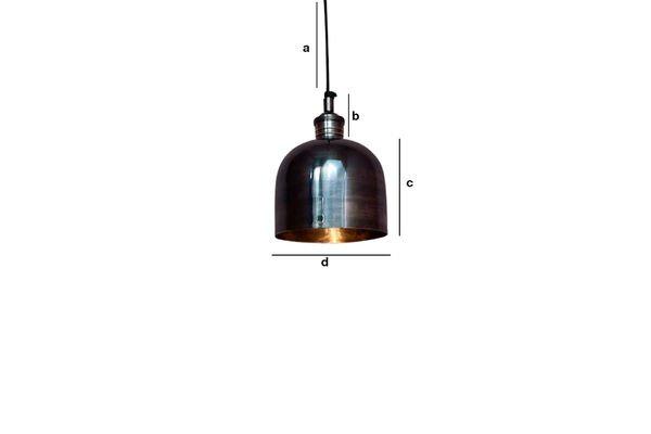 Dimensiones del producto Lámpara colgante de níquel