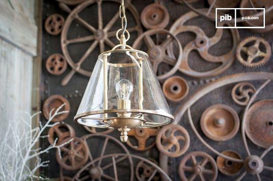 Lámpara colgante de vidrio Lacanau