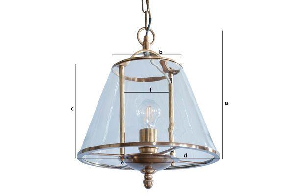 Dimensiones del producto Lámpara colgante de vidrio Lacanau