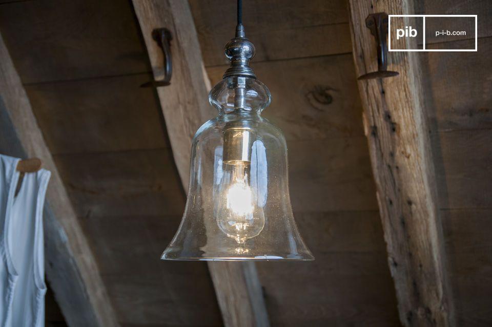 Lámpara colgante de vidrio Sweet Bell
