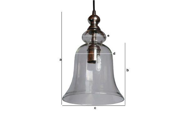 Dimensiones del producto Lámpara colgante de vidrio Sweet Bell