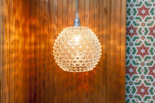 Lámpara colgante de vidrio Wagram
